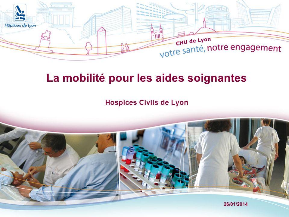 26/01/2014 La mobilité pour les aides soignantes Hospices Civils de Lyon