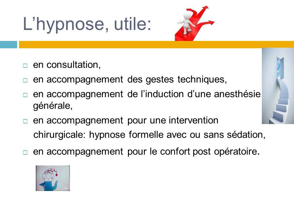 Les effets moins attendus: Lhypnose met le patient au centre du soin.