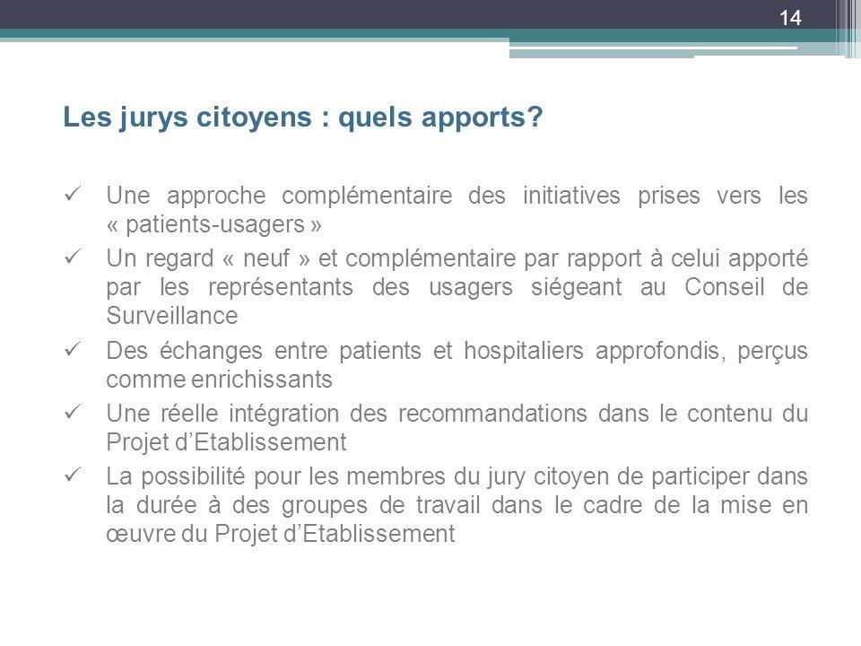 14 Les jurys citoyens : quels apports.
