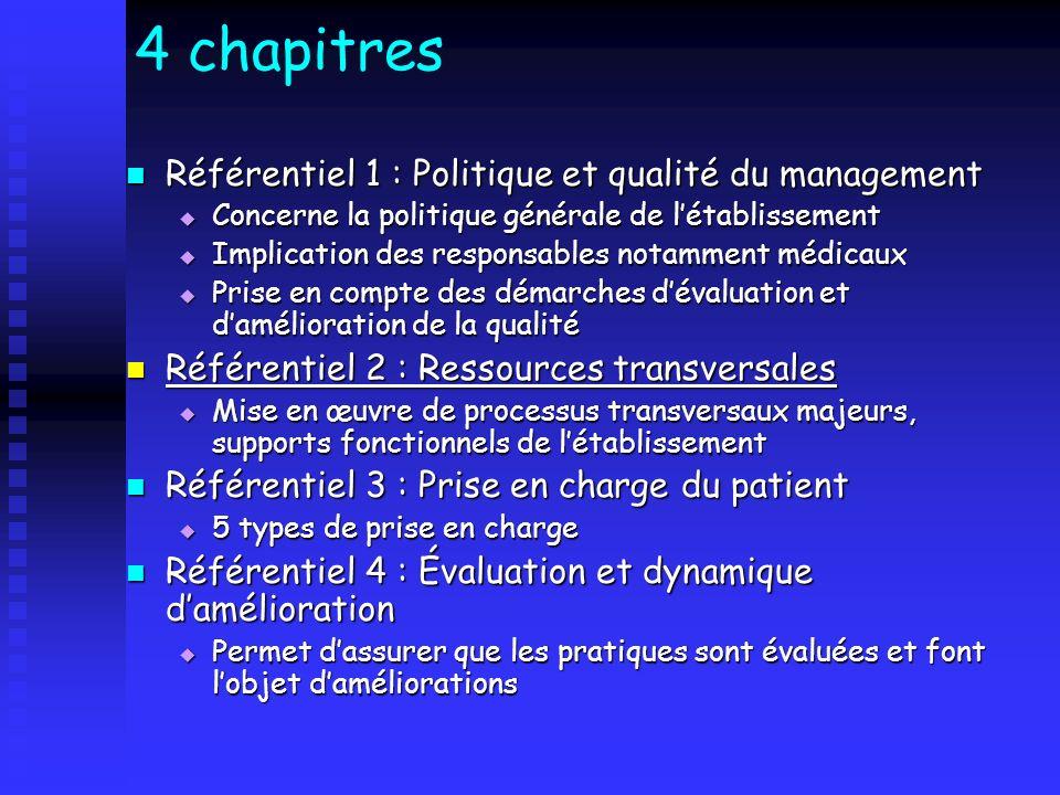 Référentiel 1 : Politique et qualité du management Référentiel 1 : Politique et qualité du management Concerne la politique générale de létablissement