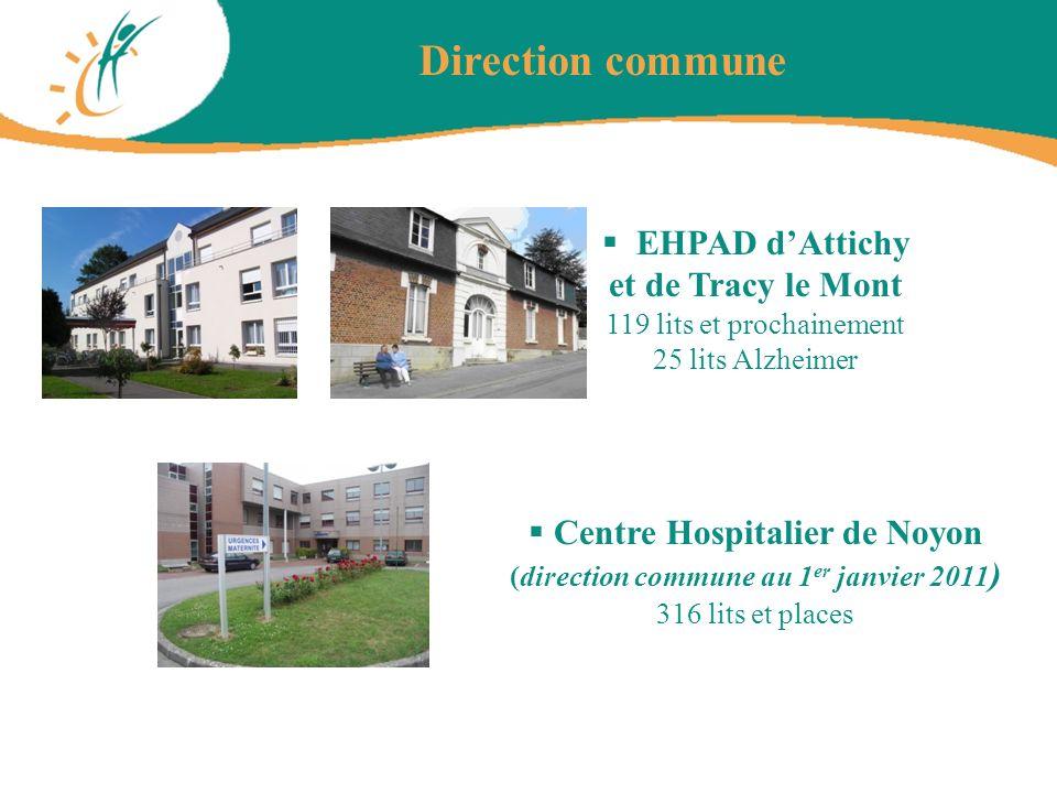 Direction commune EHPAD dAttichy et de Tracy le Mont 119 lits et prochainement 25 lits Alzheimer Centre Hospitalier de Noyon (direction commune au 1 e