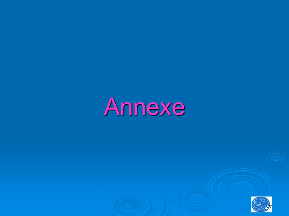 27 Annexe