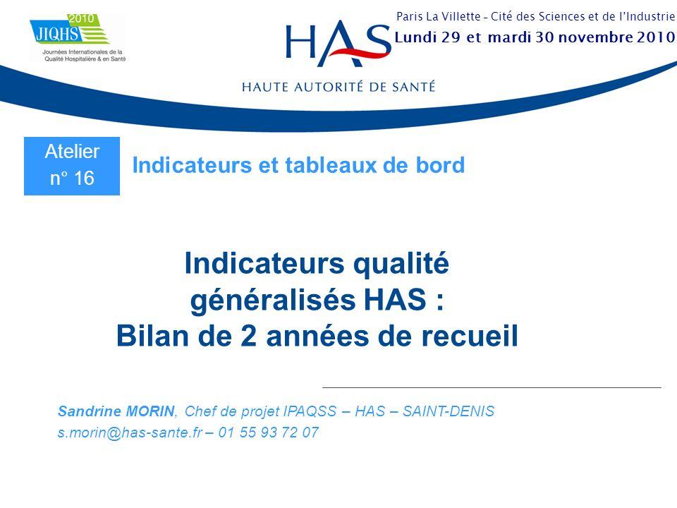 29 novembre 20102JIQHS 2010 – La Villette, Paris 1.Contexte et indicateurs généralisés 2.Résultats MCO et SSR 3.Focus sur la douleur en MCO 4.Recueils de 2010 Points abordés