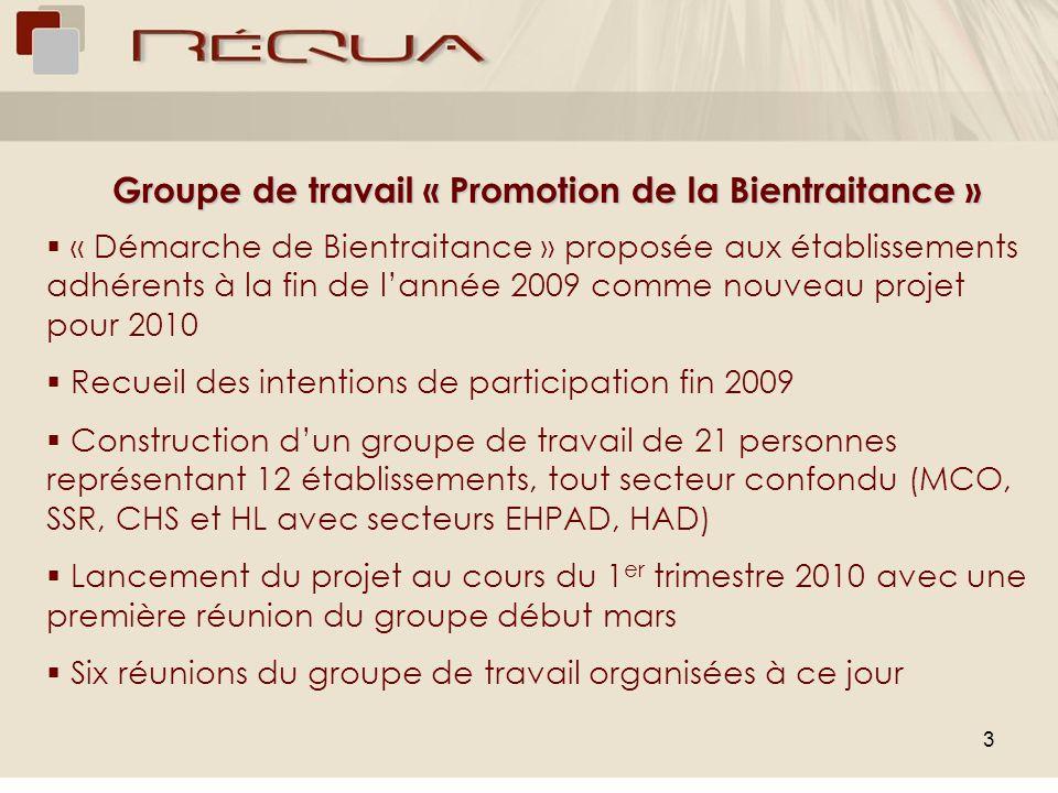 3 Groupe de travail « Promotion de la Bientraitance » « Démarche de Bientraitance » proposée aux établissements adhérents à la fin de lannée 2009 comm