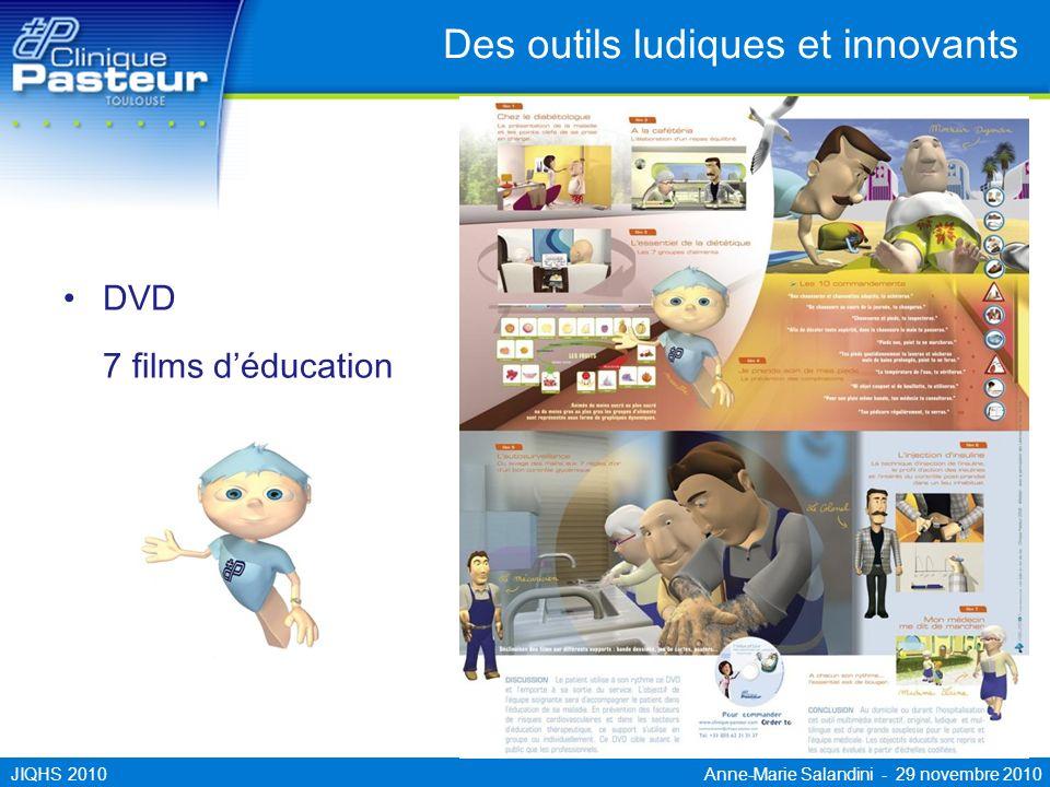 JIQHS 2010 Anne-Marie Salandini - 29 novembre 2010 Des outils ludiques et innovants DVD 7 films déducation