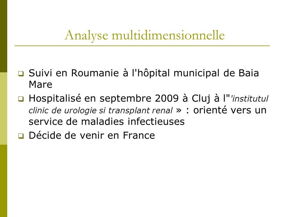 Analyse multidimensionnelle Suivi en Roumanie à l'hôpital municipal de Baia Mare Hospitalisé en septembre 2009 à Cluj à l
