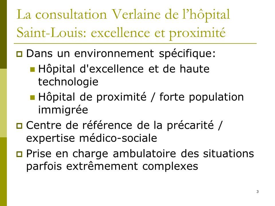 3 La consultation Verlaine de lhôpital Saint-Louis: excellence et proximité Dans un environnement spécifique: Hôpital d'excellence et de haute technol