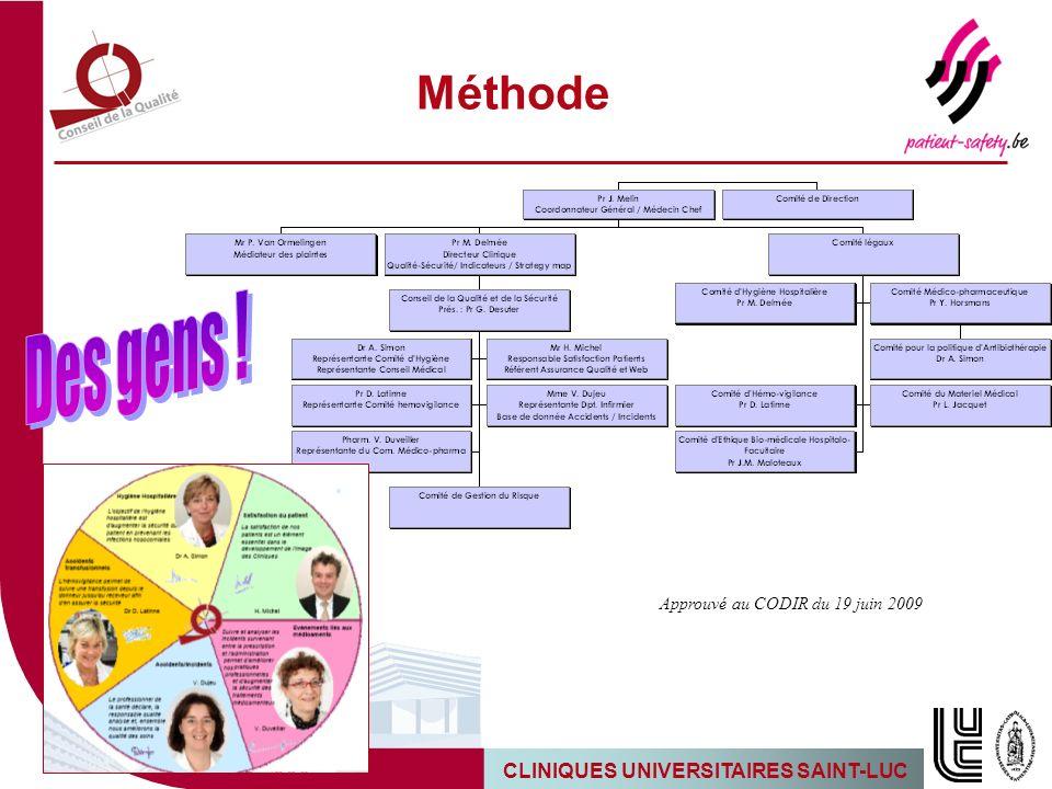 5 Méthode Approuvé au CODIR du 19 juin 2009