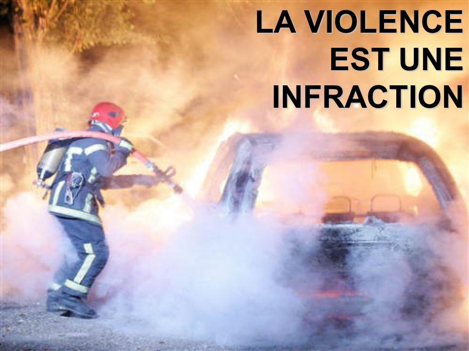LA VIOLENCE EST UNE INFRACTION
