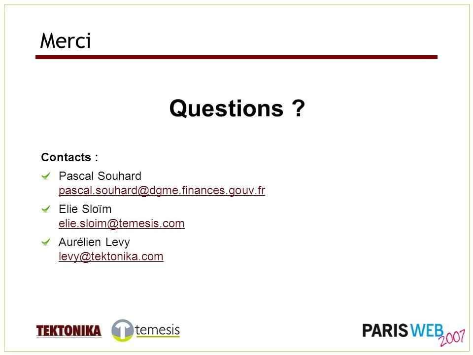 Merci Questions .