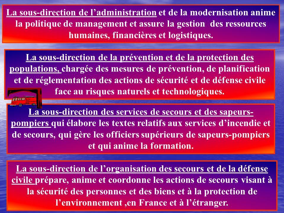 Au sein du Ministère de lintérieur, la direction de la défense et de la sécurité civiles (DDSC) est issue de la fusion du service de haut fonctionnair