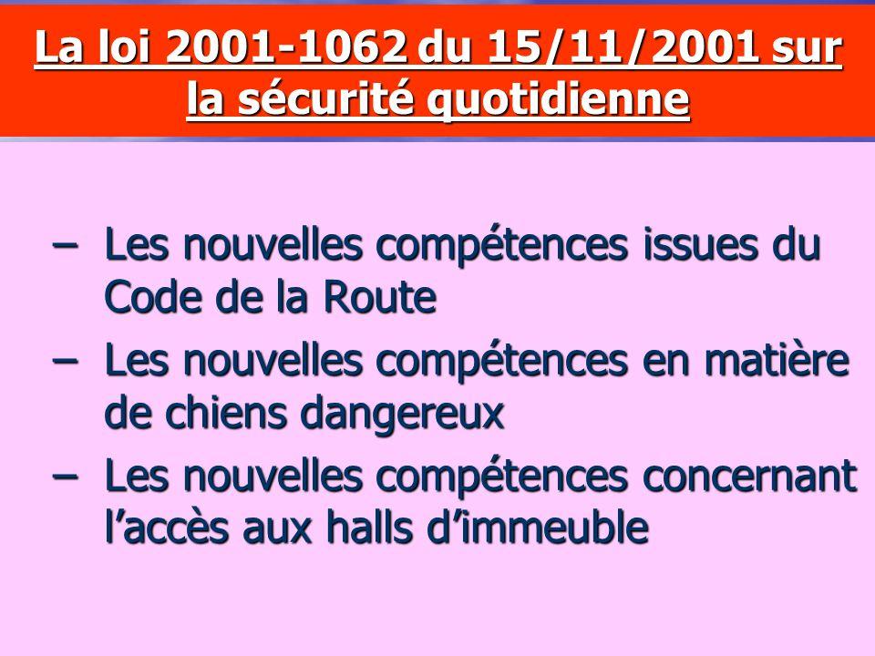 La loi n°99-291 du 15 avril 1999 – relative aux Polices Municipales – Les nouvelles compétences – La convention de coordination – La commission consul