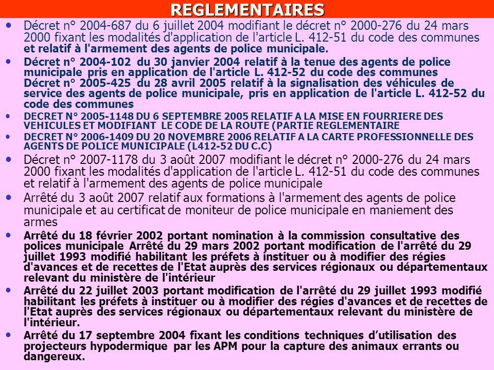 REGLEMENTAIRES Décret n° 2000-275 du 24 mars 2000 déterminant les clauses de la convention type de coordination prévue à l'article L. 2212-6 du code g