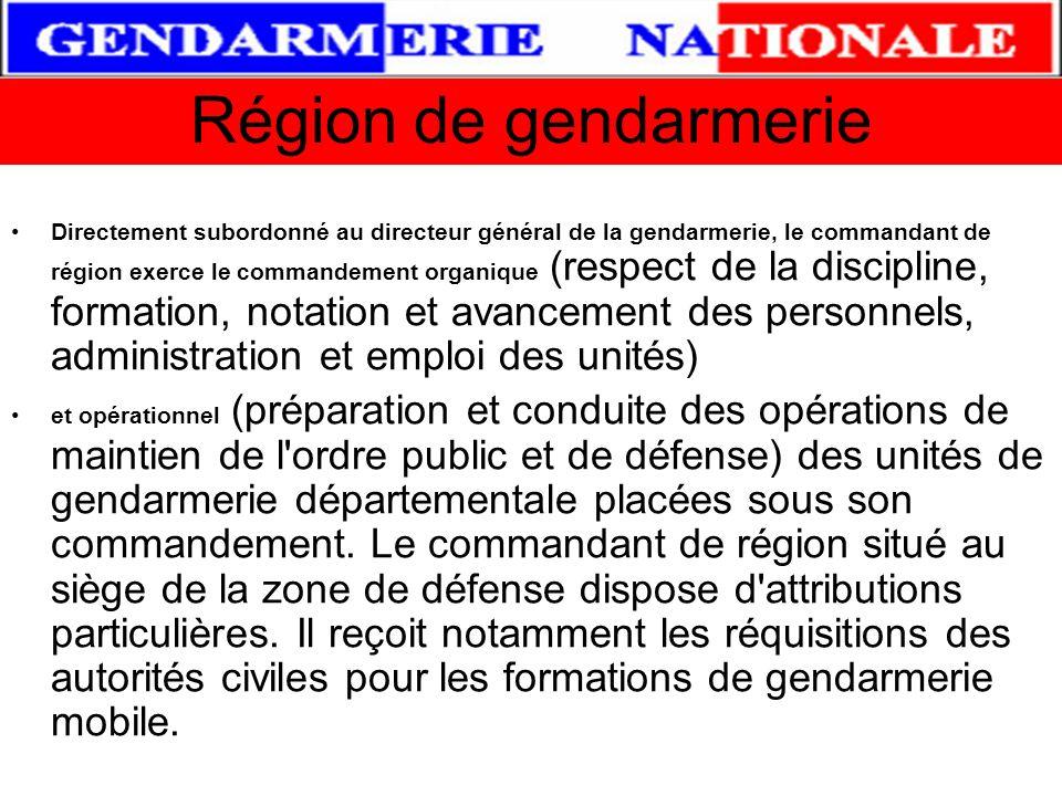 Commandant de Région Dans le domaine judiciaire le Commandant de Région « zonale » anime et coordonne la lutte engagée contre les phénomènes de délinq