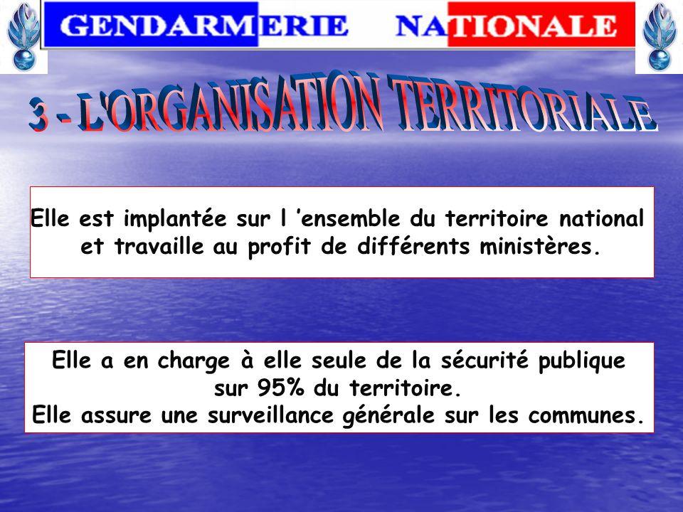 1 seul échelon de commandement entre la DGGN et le GGD 22 régions de gendarmerie Commandements de plein exercice Subordination directe du commandant d
