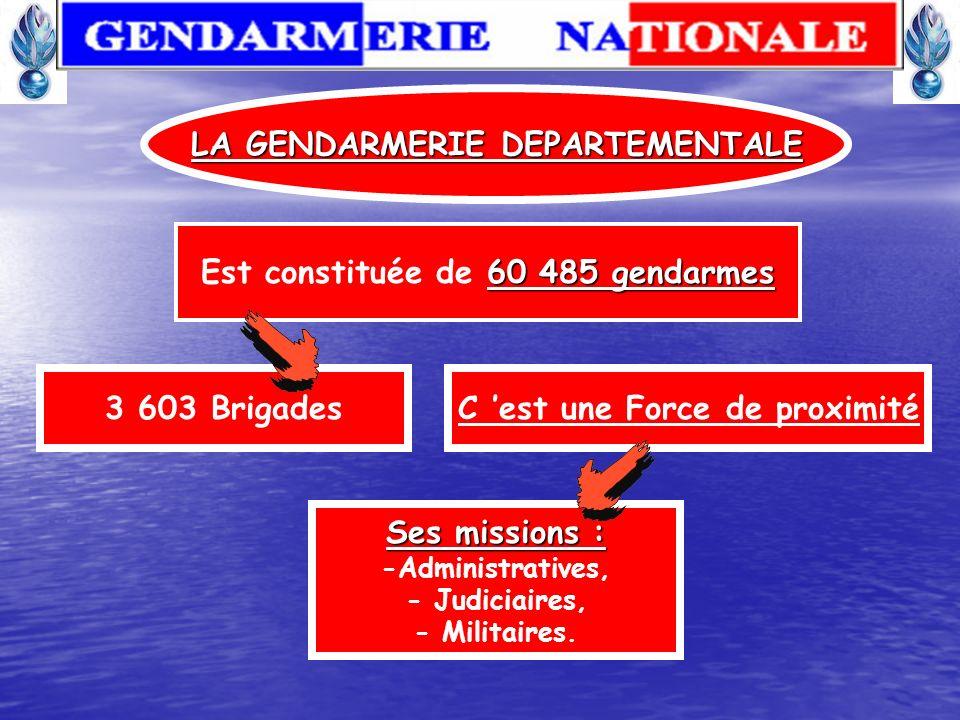 La gendarmerie fait partie intégrante du MINISTÈRE DE LA DÉFENSE. Relèvent directement de son autorité : La direction générale de la gendarmerie natio
