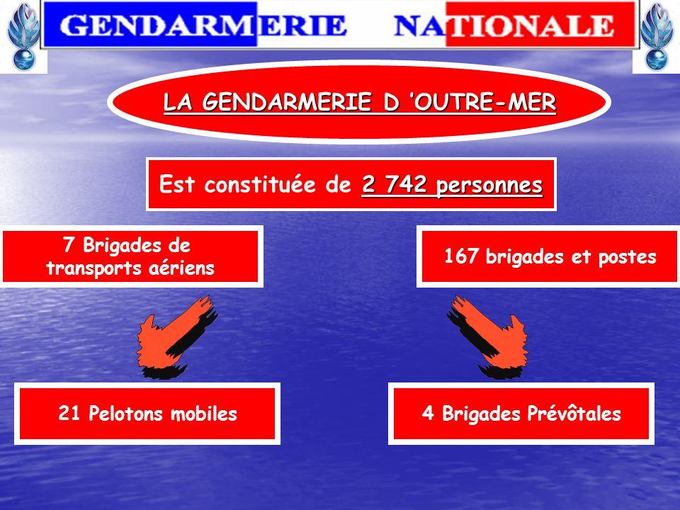17 025 personnes Est constituée de 17 025 personnes LA GENDARMERIE MOBILE Répartis en 129 Escadrons Et du Groupement de Sécurité et d Intervention de