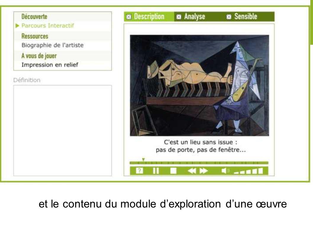 III. Le Bilan et le contenu du module dexploration dune œuvre