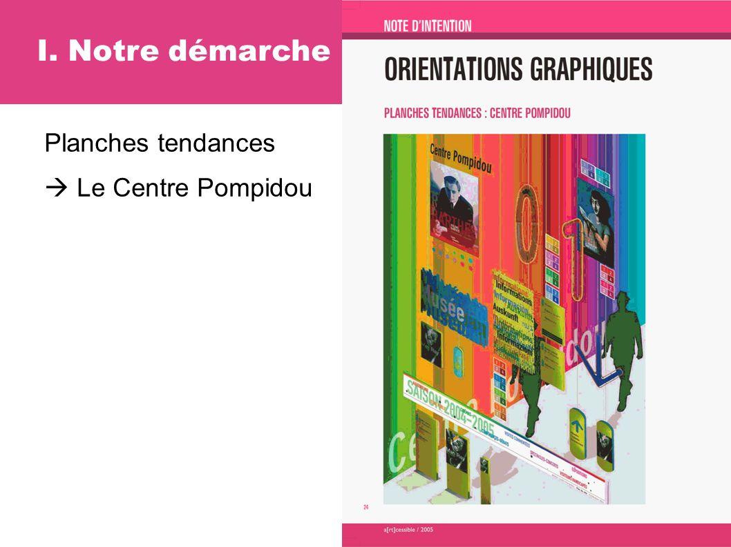 Planches tendances Le Centre Pompidou I. Notre démarche