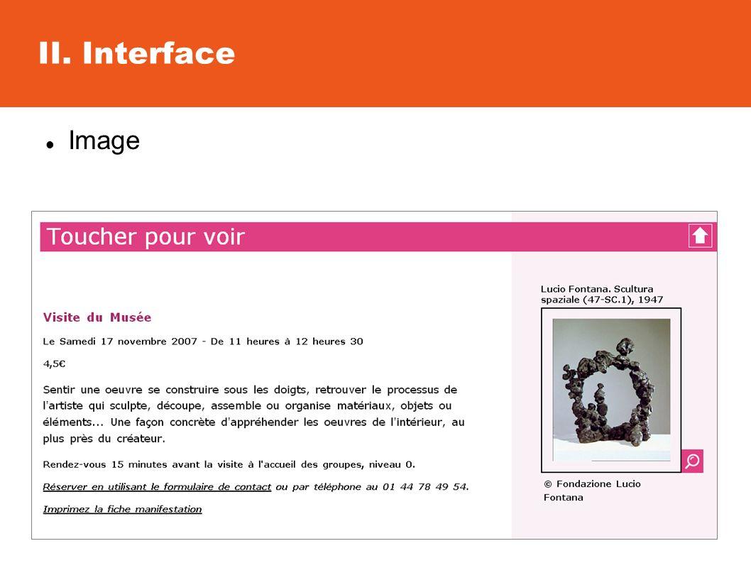 II. Interface Image