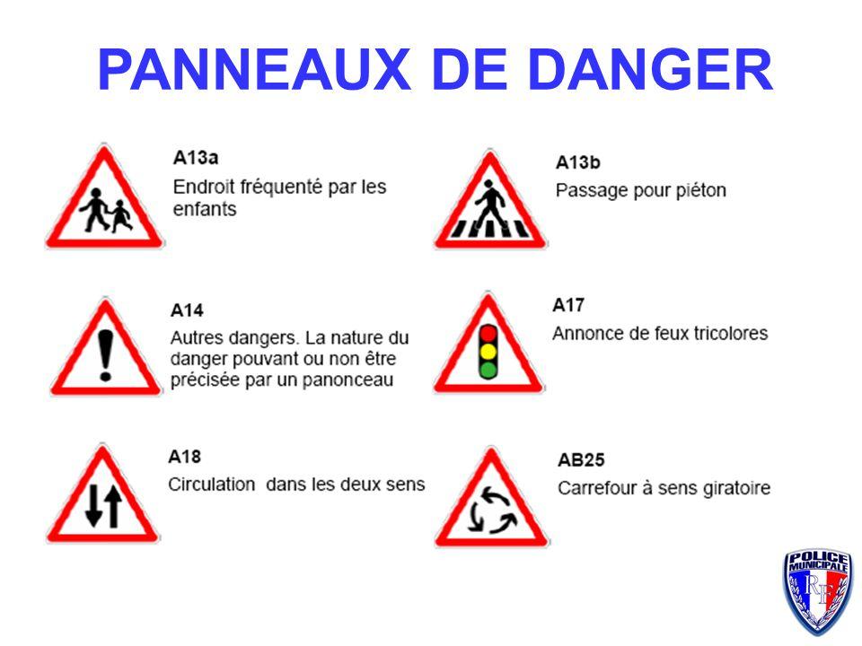 VERTICALE Danger Interdiction Intersection Obligation Indication