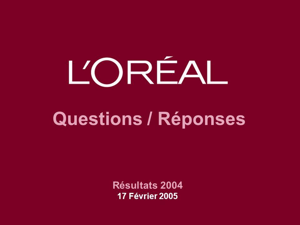 Questions / Réponses Résultats 2004 17 Février 2005