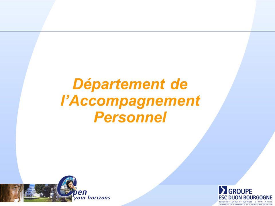 Département de lAccompagnement Personnel