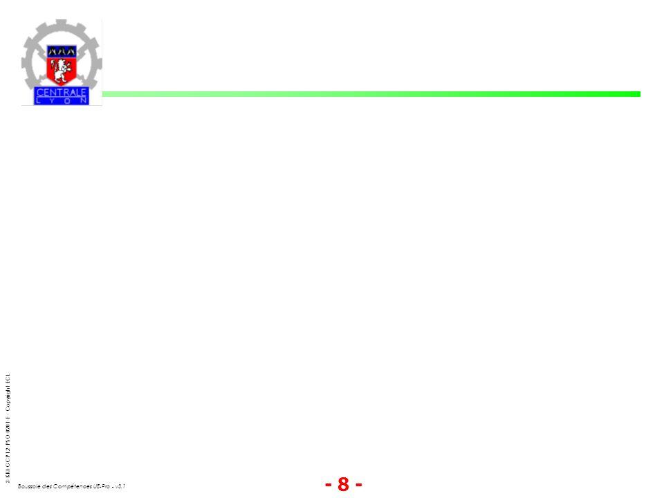 3-KKI-GCP1.2-PSO-0201-F - Copyright ECL Boussole des Compétences UE-Pro - v3.1 - 9 -