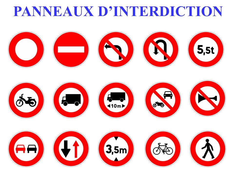 PANNEAUX DINTERDICTION