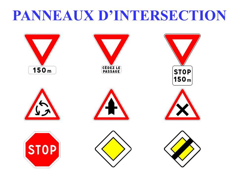 PANNEAUX DINTERSECTION