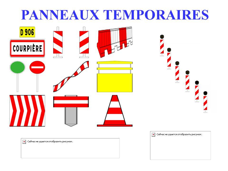 PANNEAUX TEMPORAIRES