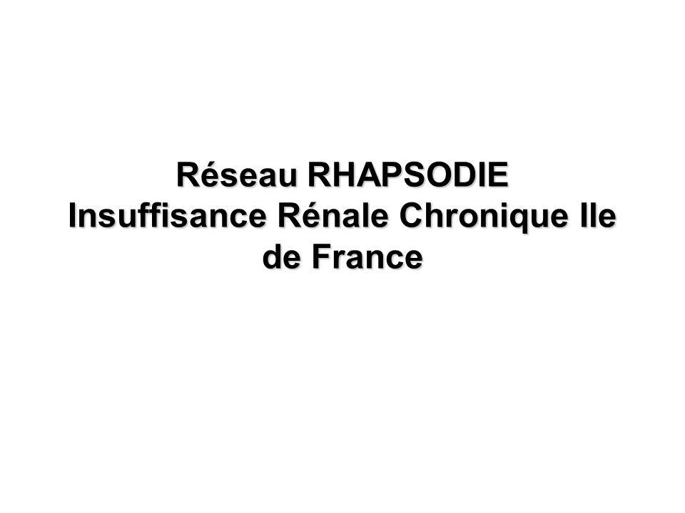 Réseau RHAPSODIE Insuffisance Rénale Chronique Ile de France