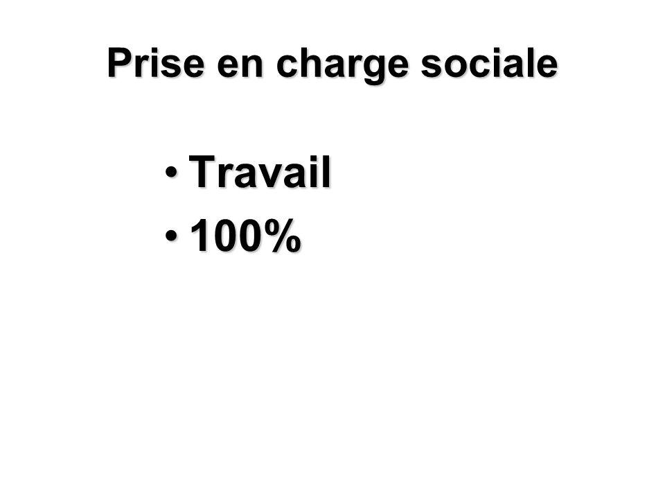 Prise en charge sociale TravailTravail 100%100%
