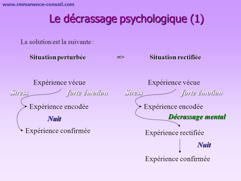 www.immanence-conseil.com Le décrassage psychologique