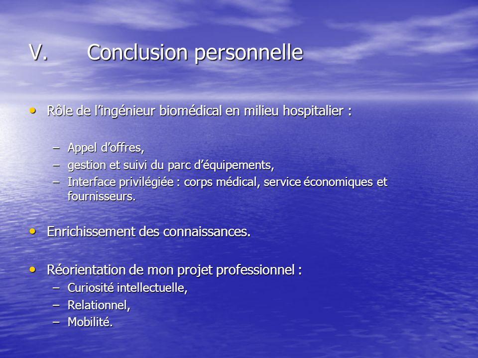 Rôle de lingénieur biomédical en milieu hospitalier : Rôle de lingénieur biomédical en milieu hospitalier : –Appel doffres, –gestion et suivi du parc