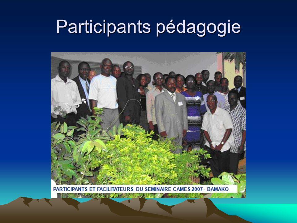 Participants pédagogie