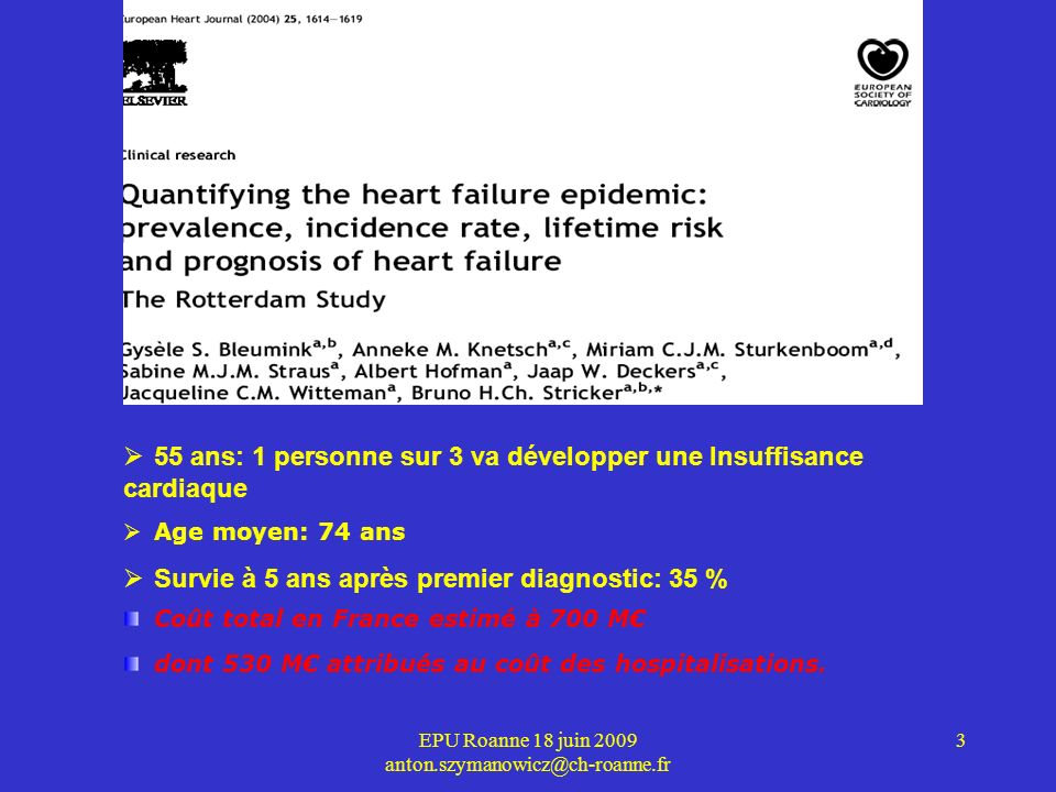 EPU Roanne 18 juin 2009 anton.szymanowicz@ch-roanne.fr 4 Cœur normal Cœur de patient insuffisant cardiaque