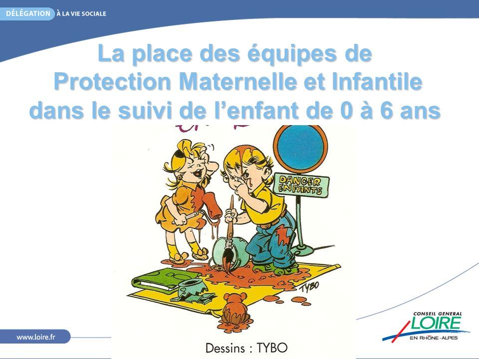 Les textes: seule compétence sanitaire globale décentralisée Loi de Décembre 1989: Articles L.146 À L.149 du Code La Santé Publique Décrets dApplication Août 1992 Loi de Juin 2005 Réformant le statut des Assistants Maternels Loi du 5 mars 2007 Réformant la Protection de lEnfance