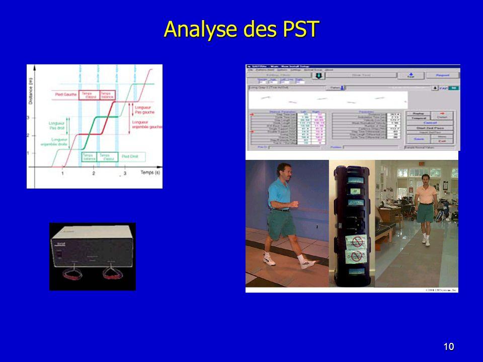 Analyse des PST 10