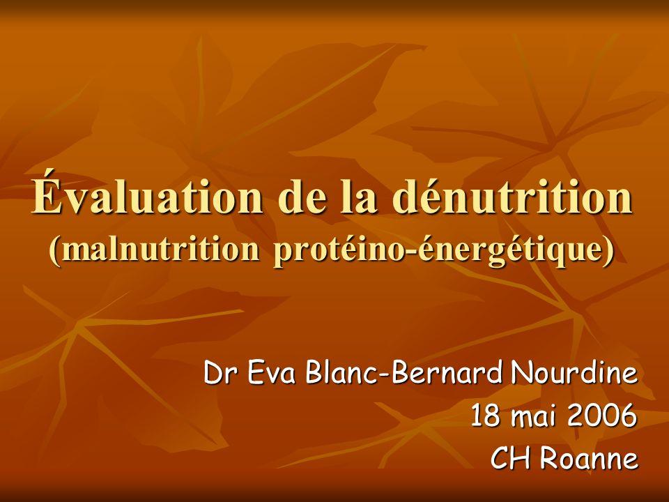 NRI = 1,519 x albuminémie (g/l) +0,417 x Poids actuel % Poids habituel NRI (Index de Buzby): Marqueur du risque nutritionnel.
