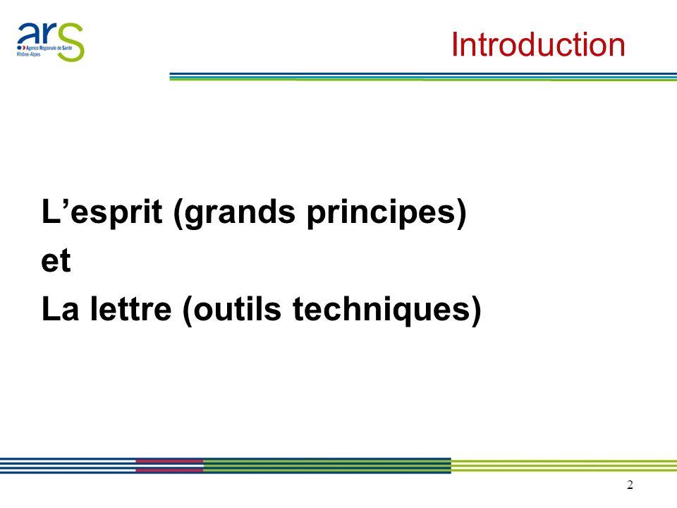2 Introduction Lesprit (grands principes) et La lettre (outils techniques)