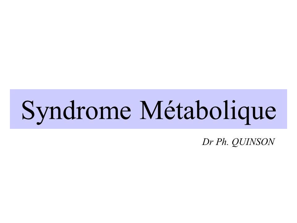Syndrome Métabolique Dr Ph. QUINSON