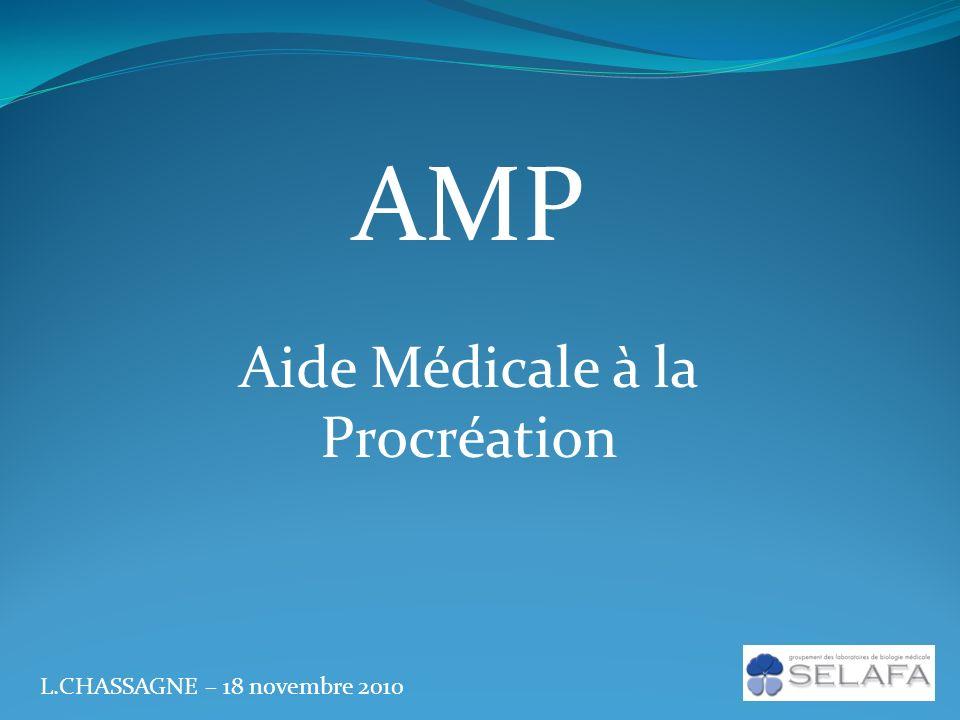 AMP Aide Médicale à la Procréation L.CHASSAGNE – 18 novembre 2010