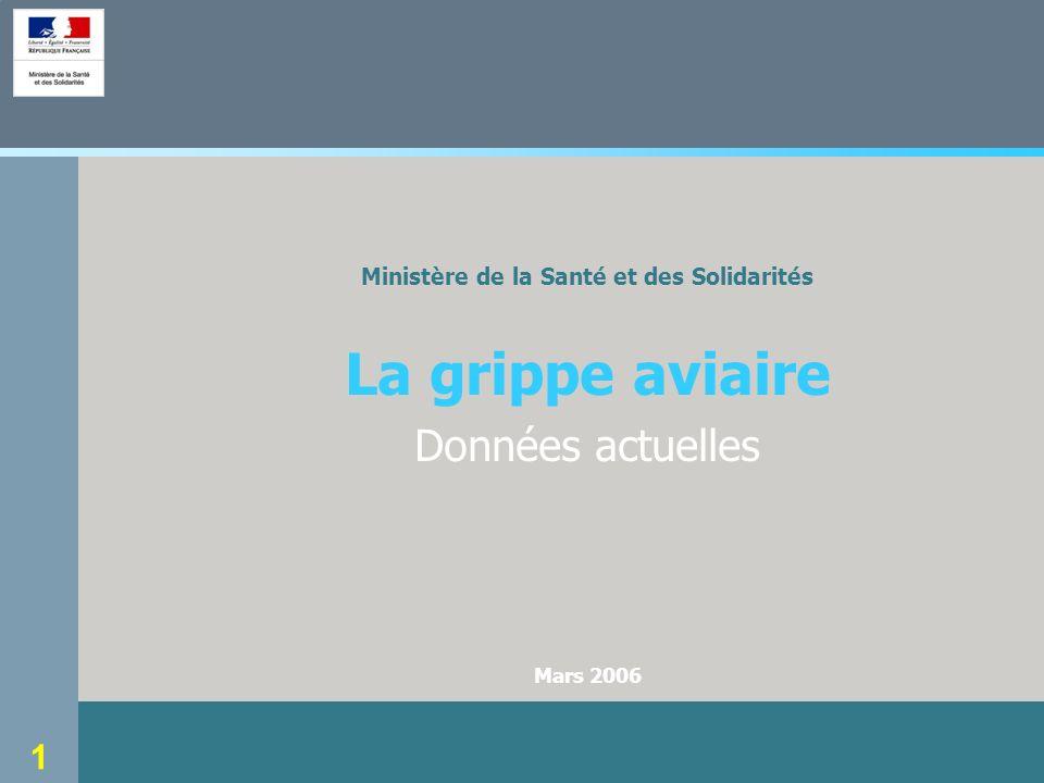 1 Ministère de la Santé et des Solidarités La grippe aviaire Données actuelles Mars 2006