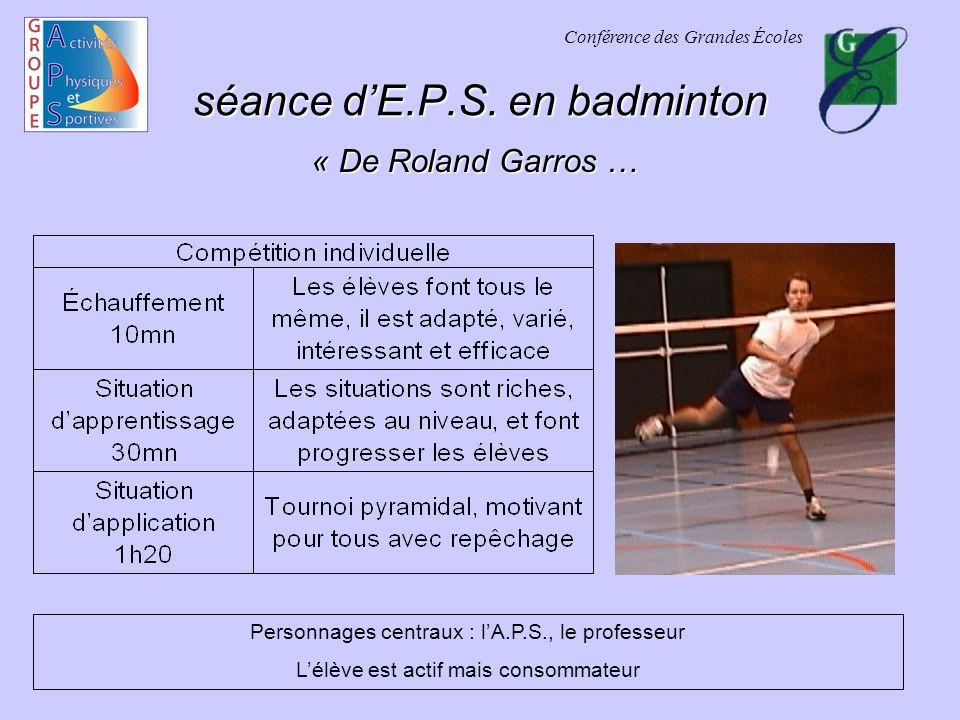 Conférence des Grandes Écoles séance dE.P.S.
