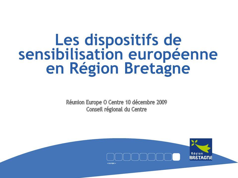 Mission Information et Coordination européenne Objectif: renforcer la conscience européenne des citoyens et notamment des jeunes 2 dispositifs: -les Animateurs Europe depuis 1991(dispositif commun avec la Région Pays de la Loire) -les Kiosques Europe depuis 2004 Les Animateurs Europe