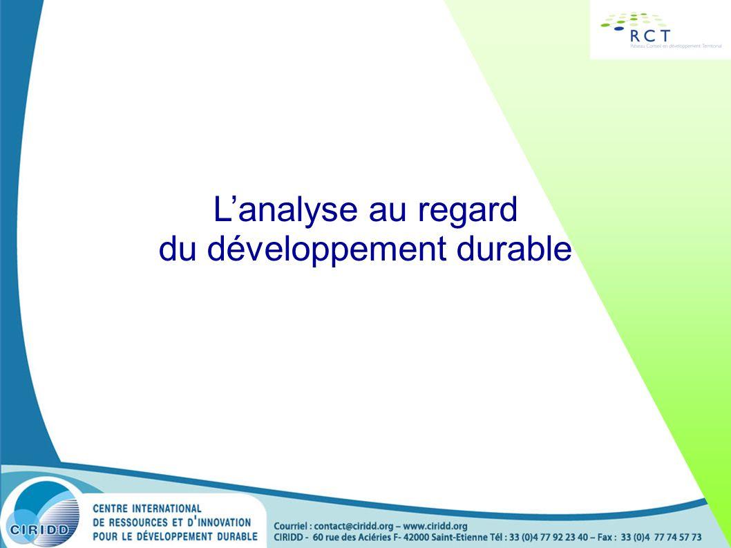 Lanalyse au regard du développement durable