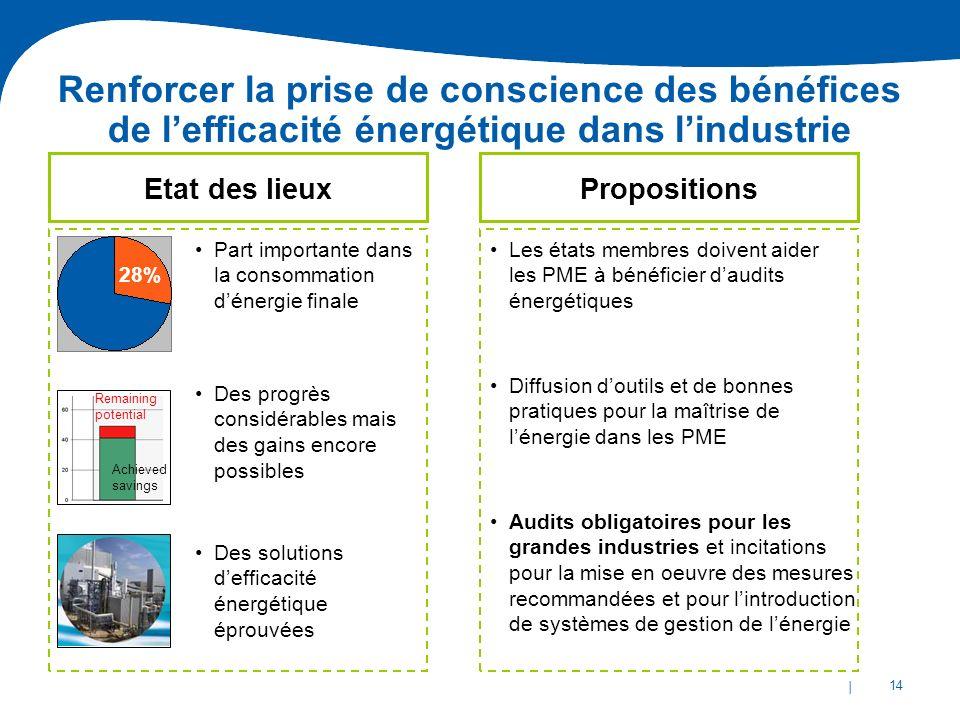 | 14 Audits obligatoires pour les grandes industries et incitations pour la mise en oeuvre des mesures recommandées et pour lintroduction de systèmes