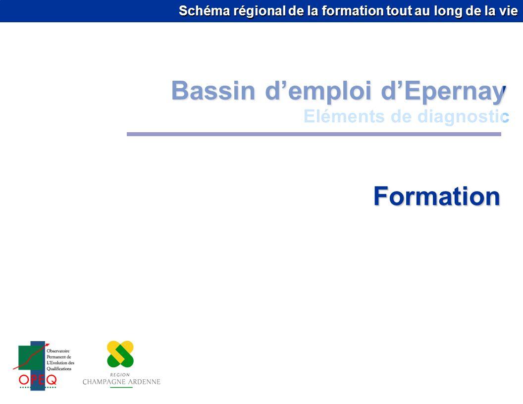 Schéma régional de la formation tout au long de la vie Bassin demploi dEpernay Eléments de diagnostic Formation