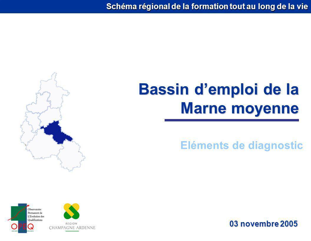 Schéma régional de la formation tout au long de la vie Bassin demploi de la Marne moyenne Eléments de diagnostic 03 novembre 2005